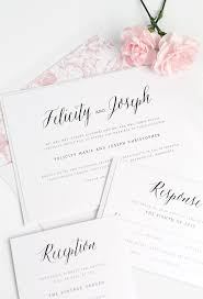 Rustic Floral Wedding Invitations In Pink