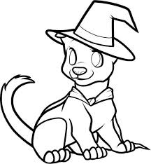 Halloween Dog Coloring Page