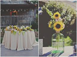 A Rustic Sunflower Wedding At The Temecula Creek Inn With Lots Of DIY Touches Such As Yarn Table Numbers Burlap Runners By Teale Photography