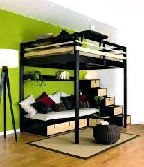 lit avec bureau int r bureau deux places finest lit with lit mezzanine 2 places en bois