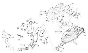 Aprilia Dorsoduro 750 Exhaust Unit Parts 2008