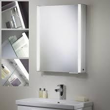 roper plateau single door bathroom cabinet with light