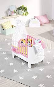 zapf creation 827420 baby born baby care magisches himmelbett puppenbett mit funktion für puppen bis ca 43 cm größe puppenzubehör bunt