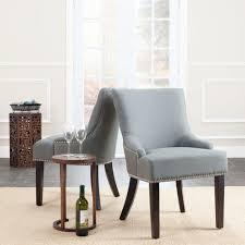 Upholstered Dining Chairs With Nailheads by Safavieh Lotus Sea Mist Linen Side Chair Set Of 2 Mcr4700d Set2