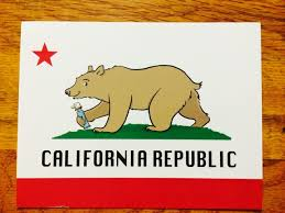 California Bear Flag Cartoon Drawing With Pez