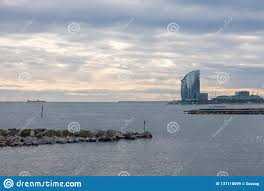 100 W Hotel Barcelona View Of The Spain Editorial Stock Image