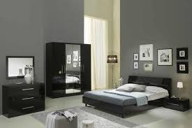 miroir de chambre glorino chambre à coucher complète noir laqué modiva
