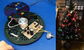 Fiber Optic Christmas Trees by Hacking A Christmas Tree For Less Blinkyness Hackaday
