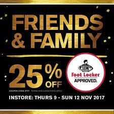Foot Locker 25% Off For Friends & Family, In Store - OzBargain