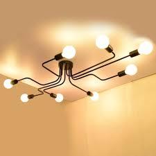 edislive vintage deckenleuchte industrie kronleuchter le pendelleuchte leuchte für schlafzimmer wohnzimmer cafe hotel bar schwarz 8 flammig