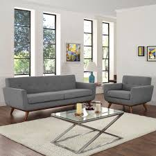 Engage Armchair And Sofa Set Of 2 Expectation Gray By Modern Living
