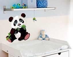 stickers panda chambre bébé design4wall ds 827 sticker mural bébé panda l x h 70cm x https