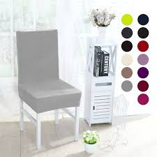 Stretch Thicken Plush Short Dining Room Chair Covers Seat Protector Slipcovers