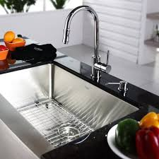 Overstock Moen Kitchen Faucets by Kraus Kpf1622ksd30 Single Lever Pull Out Kitchen Faucet With Hi