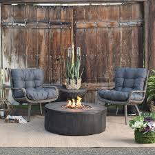 Patio Conversation Sets With Fire Pit by Belham Living Rio Wicker Chat Set With Whitehall Gas Fire Pit