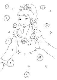Download Little Princess Coloring Page Royalty Free Stock Image