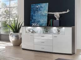 glasgow sideboard weiß hochglanz anthrazit