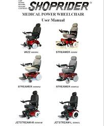 Shoprider Power Wheelchair Manual by Shoprider Wizz Streamer And Jetstream Manual