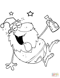 Click The Drunk Santa Claus Coloring Pages To View Printable