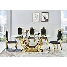 smaragd designer esstisch gold edelstahl esszimmer tisch