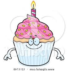 happy birthday cupcake clipart