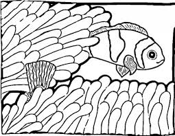 Fish Shape Coloring Page Free Printable