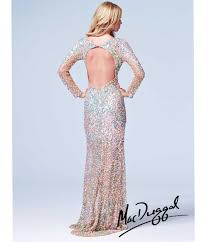 duggal 2014 prom dresses metallic sequin beaded long sleeve