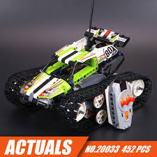 The RC Track Remote-control Race Car Set Building Blocks Bricks Toys ...