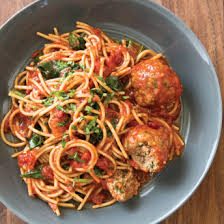 Slow Cooker Spaghetti with Meatballs Florentine