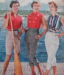 1958 Nautical Colors Make Summer Capris Fashionable