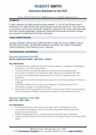 Executive Assistant To The CEO Resume Model