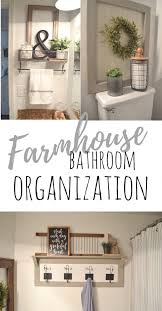 Farmhouse Bathroom Organization Farm Fresh Homestead Farmhouse