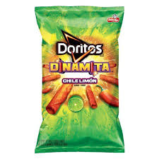Doritos Dinamita Chile Limon Rolled Flavored Tortilla Chips 925 Oz Bag