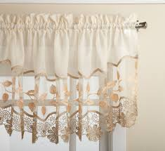 Sears Sheer Lace Curtains by Lorraine Home Fashions Gypsy Shabby Chic Ruffled Window Curtain Panel