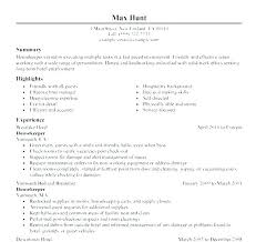 Hotel Housekeeping Supervisor Resume Sample Housekeeper Tutorial Skills Hospital 7 Free