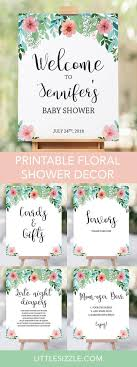 Floral Baby Shower Sign Pack Printable