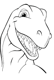 Free Online Coloring Pages Dinosaurs Print Dinosaur Bones Train Full Size