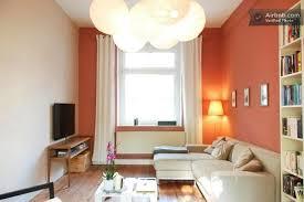 tolle wandfarbe im wohnzimmer apricot schöne kombination