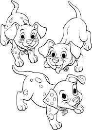 Coloriage Les 101 Dalmatiens Enfant à Imprimer Sur COLORIAGES Info