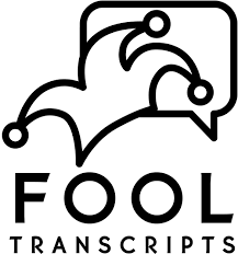 Logo Of Jester Cap With Thought Bubble Words Fool Transcripts Below It