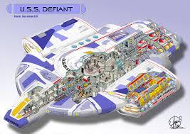 U.S.S. Defiant - Cutaway By Paul-Muad-Dib.deviantart.com On ...