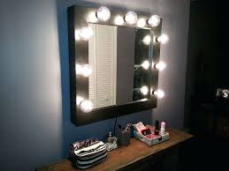 mirrors wall mounted lighted makeup mirror rubbed bronze
