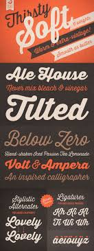 Thirsty Soft Is A Font That Warm Buttery Smooth Adding Friendliness And