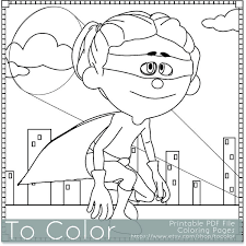 Printable Superhero Girl Coloring Page For Adults PDF JPG Instant Download