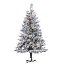 Vickerman Slim Flocked Christmas Tree by Sterling Tree Company 4 Ft Flocked Colorado Spruce Pre Lit