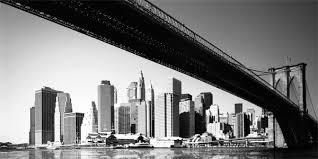 toile sur châssis pont de en noir et blanc home photo