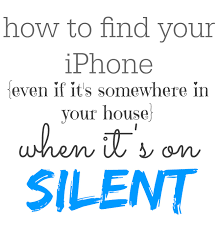 Find your lost iPhone even when it s on silent and lost in your home