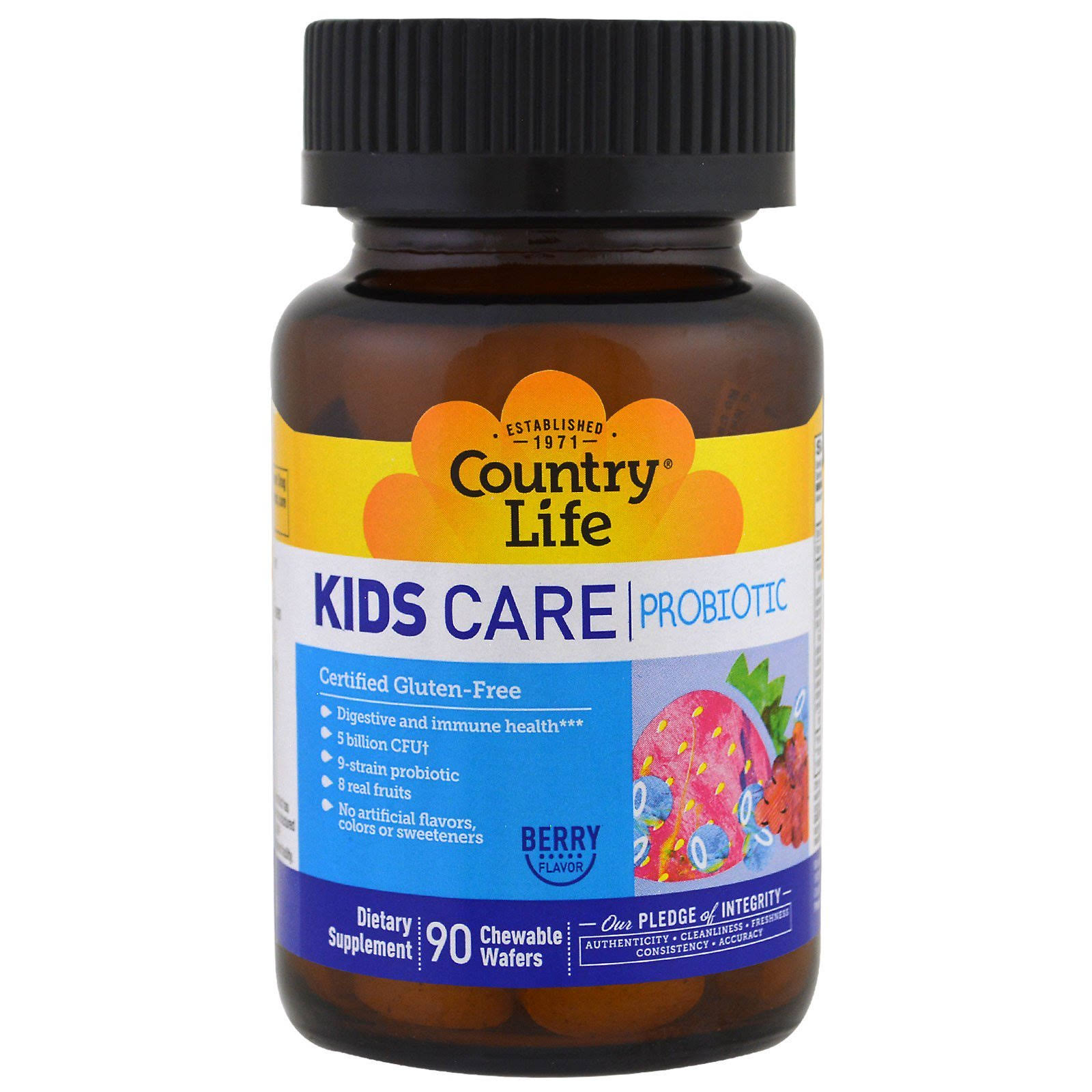 Country Life Kids Care Probiotic Dietary Supplement - Berry, 90ct