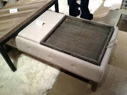 Coffee Table Storage Ottoman With Tray Gorgeous Fabric Storage