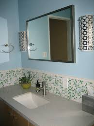 glass mosaic backsplash tile wholesale mirror tile squares blue